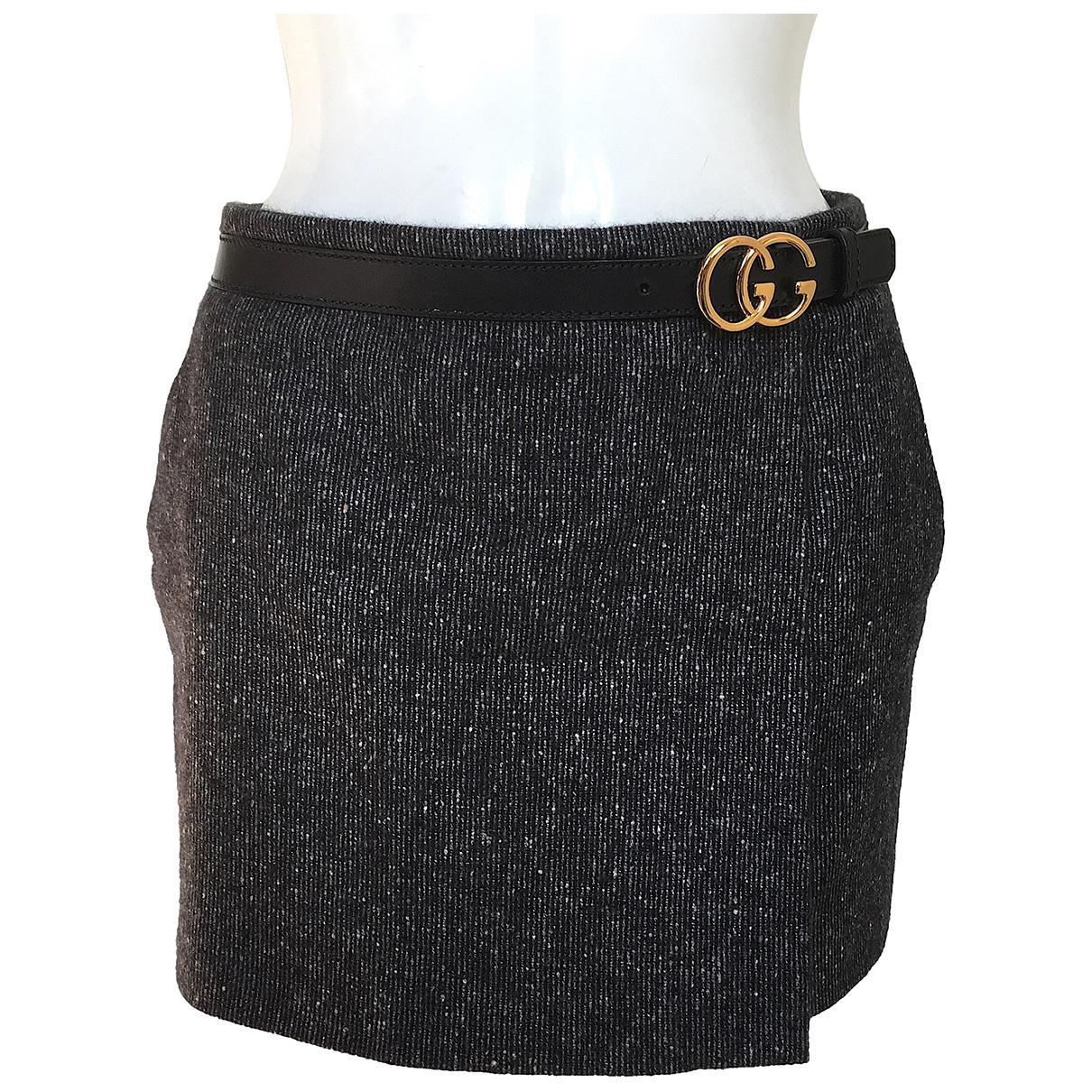 Gucci - Jupe   pour femme en laine - gris