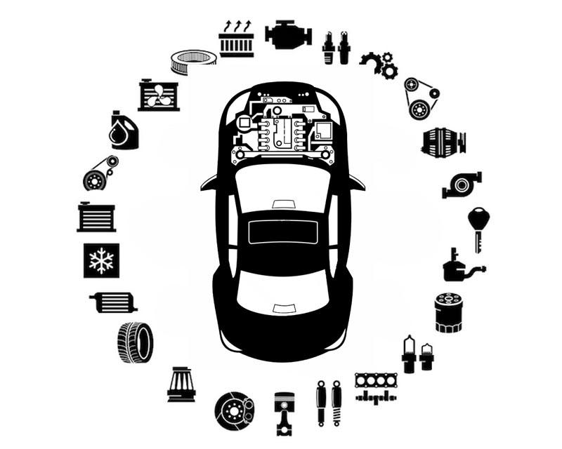 O.E.M Headlight Level Sensor Mercedes-Benz Front