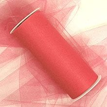 Coral Tulle Rolls - 18 X 25yd - Fabric Cloth - Width: 18 by Paper Mart
