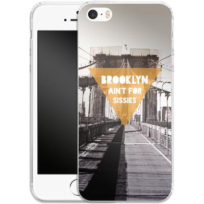 Apple iPhone 5 Silikon Handyhuelle - BKLYN Aint For Sissies von Statements