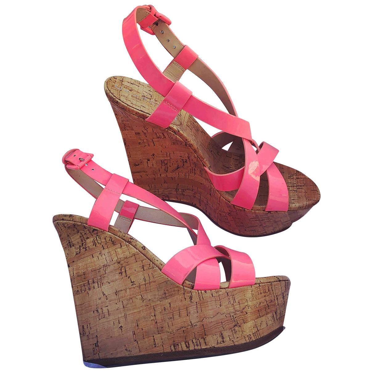 Casadei - Sandales   pour femme en cuir verni - rose