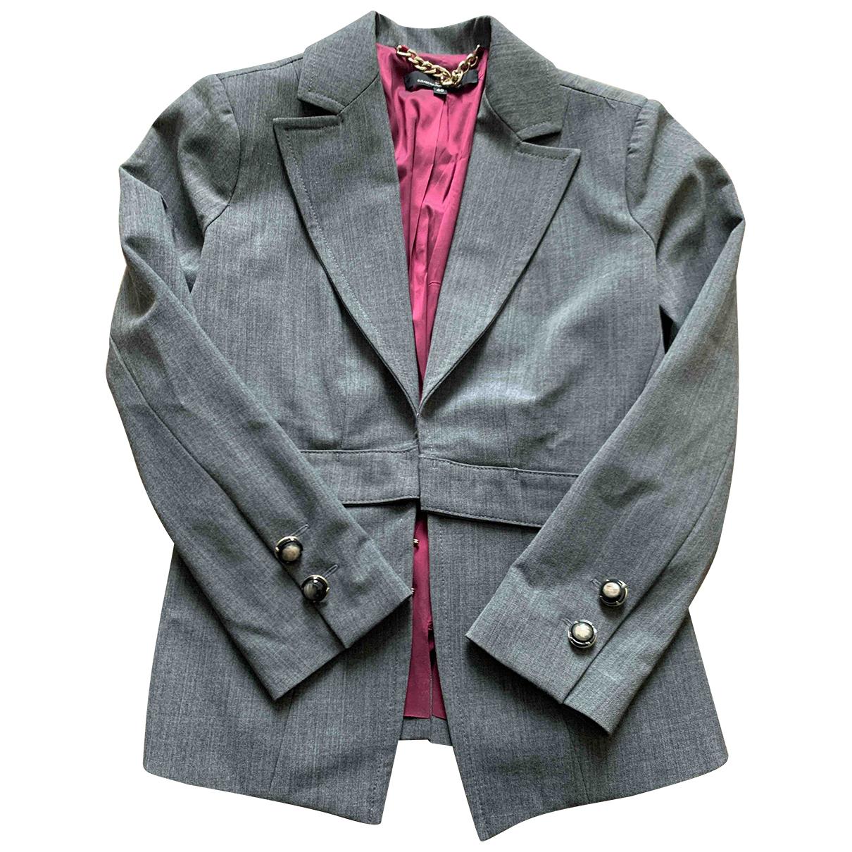 Elisabetta Franchi N Grey Wool jacket for Women 40 IT
