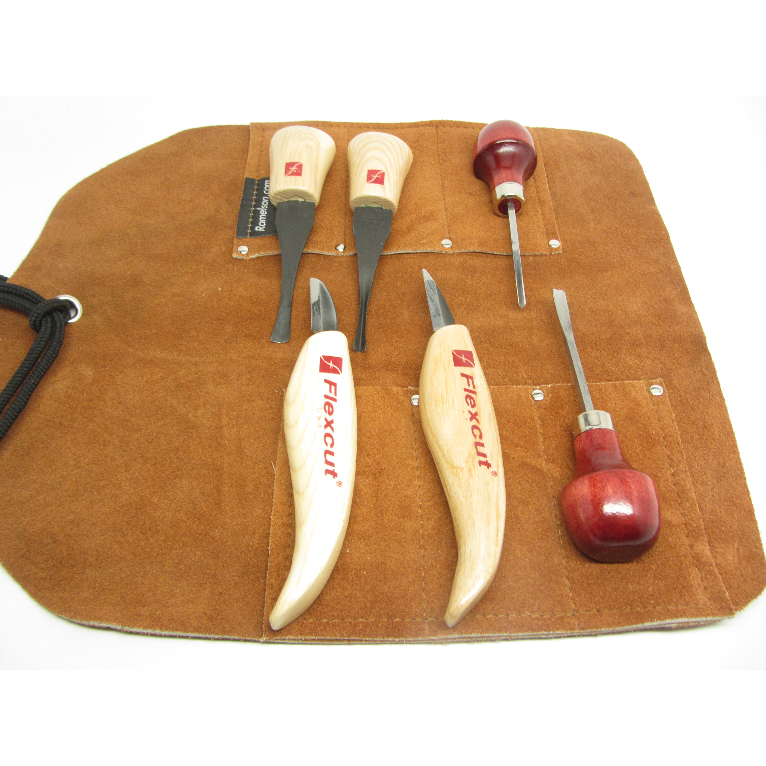 Gouge, V Palm Tool set, Flexcut MT 600  and Leather Tool Roll