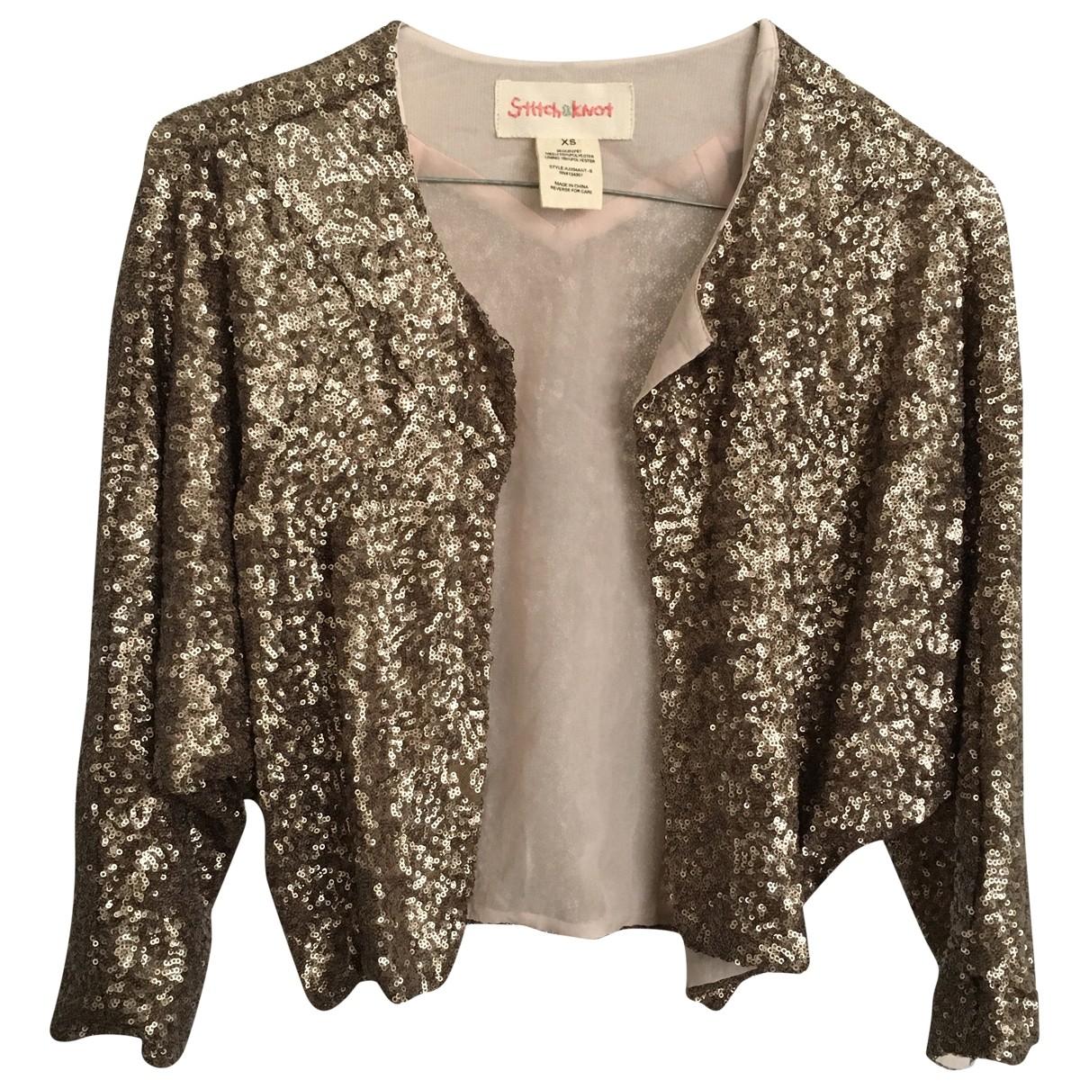 Anthropologie N Gold Glitter jacket for Women XS International