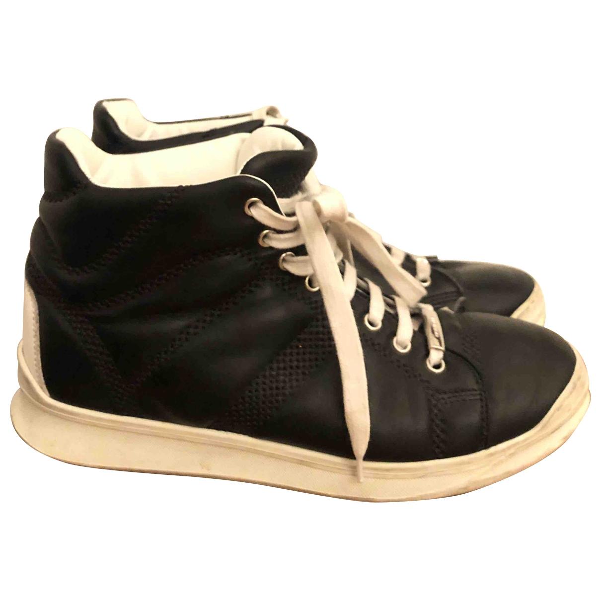 Dior Homme - Baskets   pour homme en cuir - noir