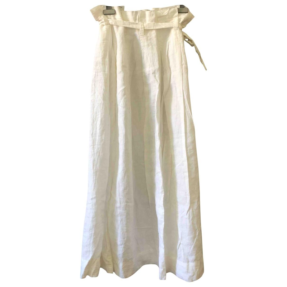 Intrend - Jupe   pour femme en lin - blanc