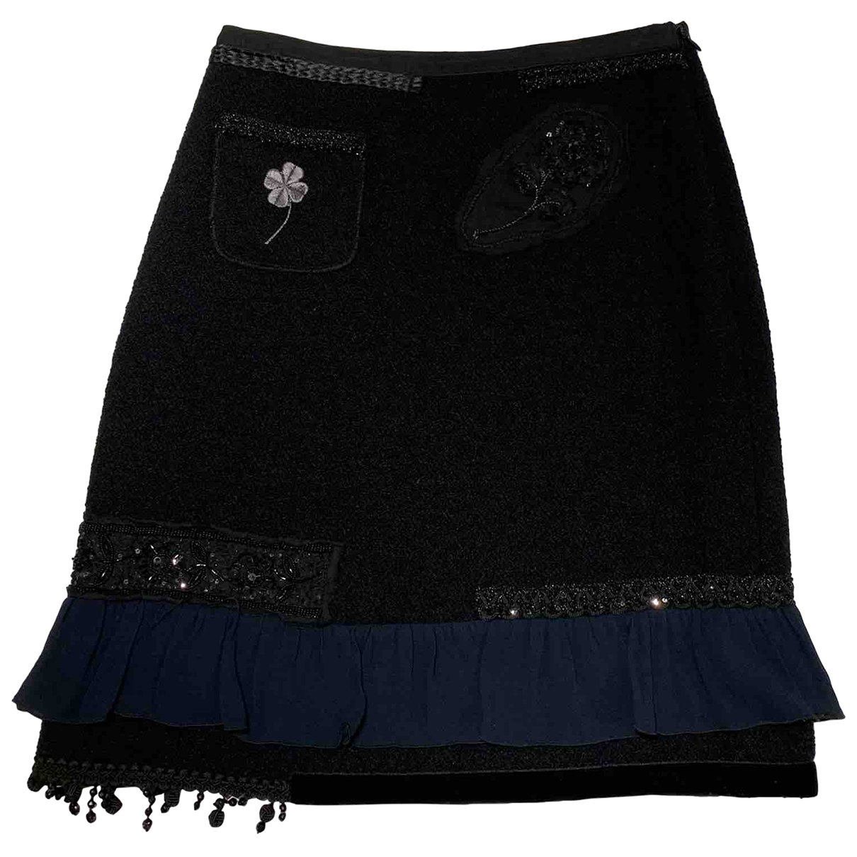 Moschino Cheap And Chic N Black Wool skirt for Women 42 IT