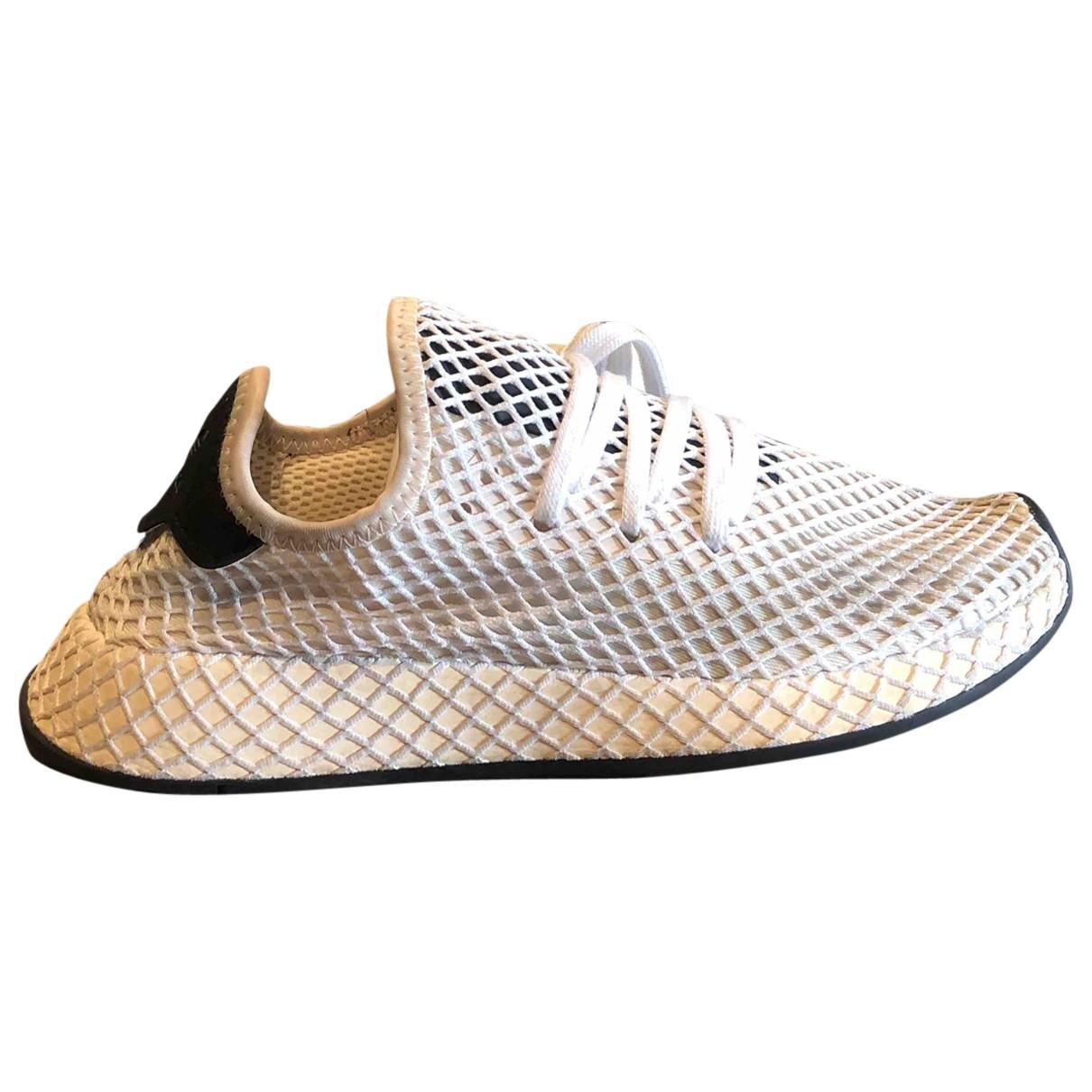 Adidas - Baskets Deerupt Runner pour femme en toile - blanc
