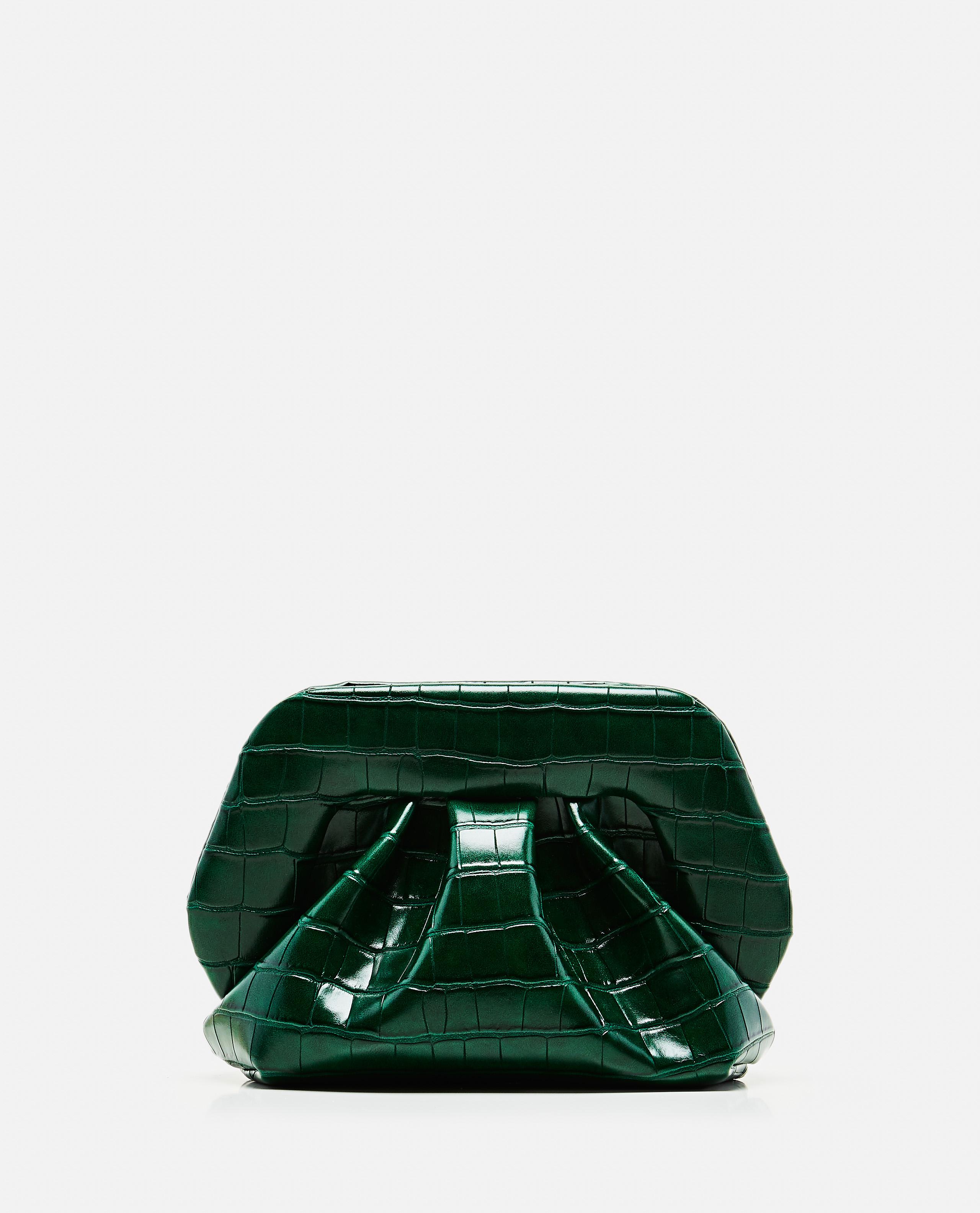 Croco-print eco-leather clutch