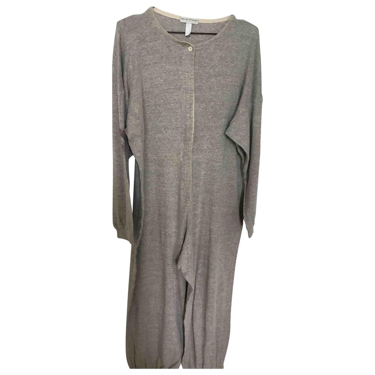 Emporio Armani - Combinaison   pour femme en coton - gris