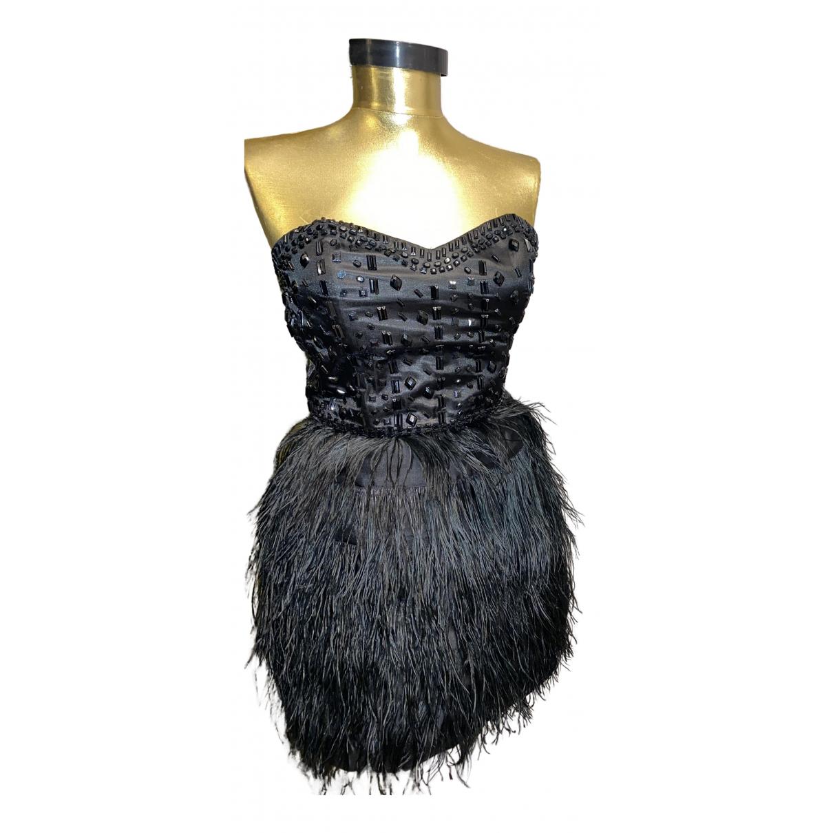 Asos \N Kleid in  Schwarz Exotenleder