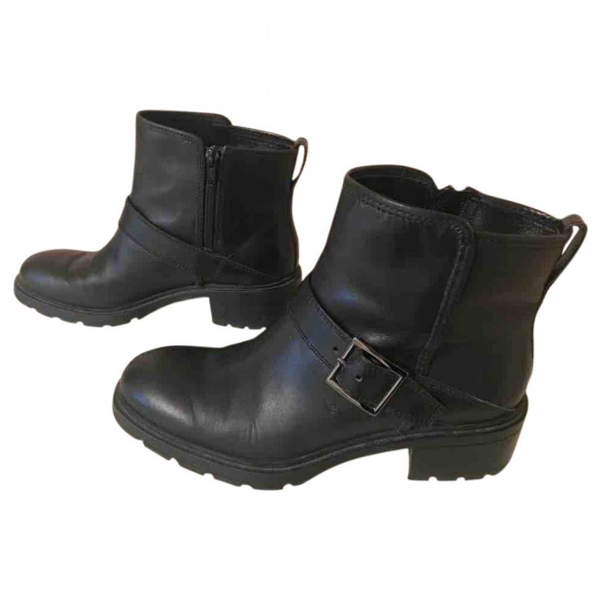 Hogan \N Black Leather Boots for Women 38 EU