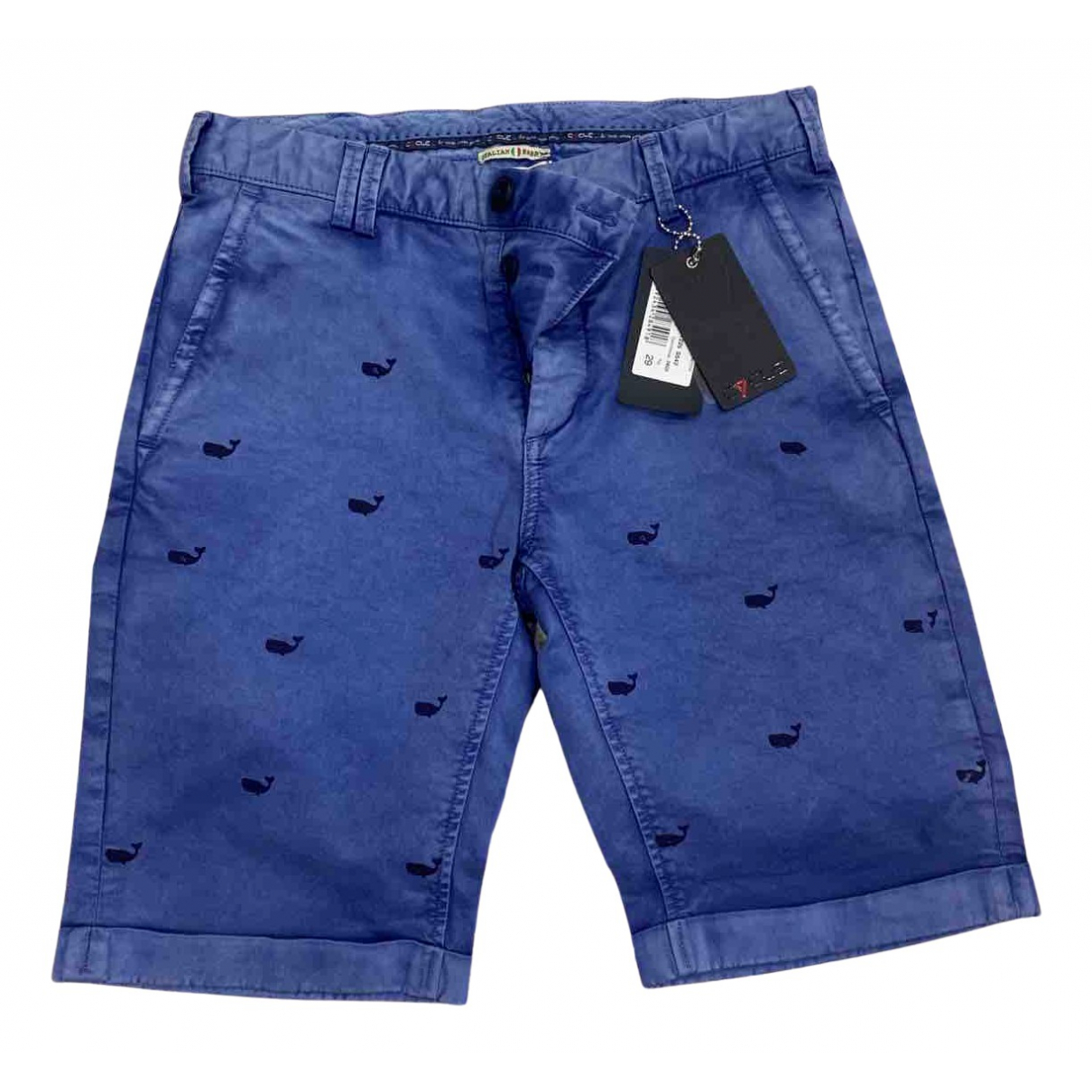 Cycle \N Shorts in  Blau Baumwolle