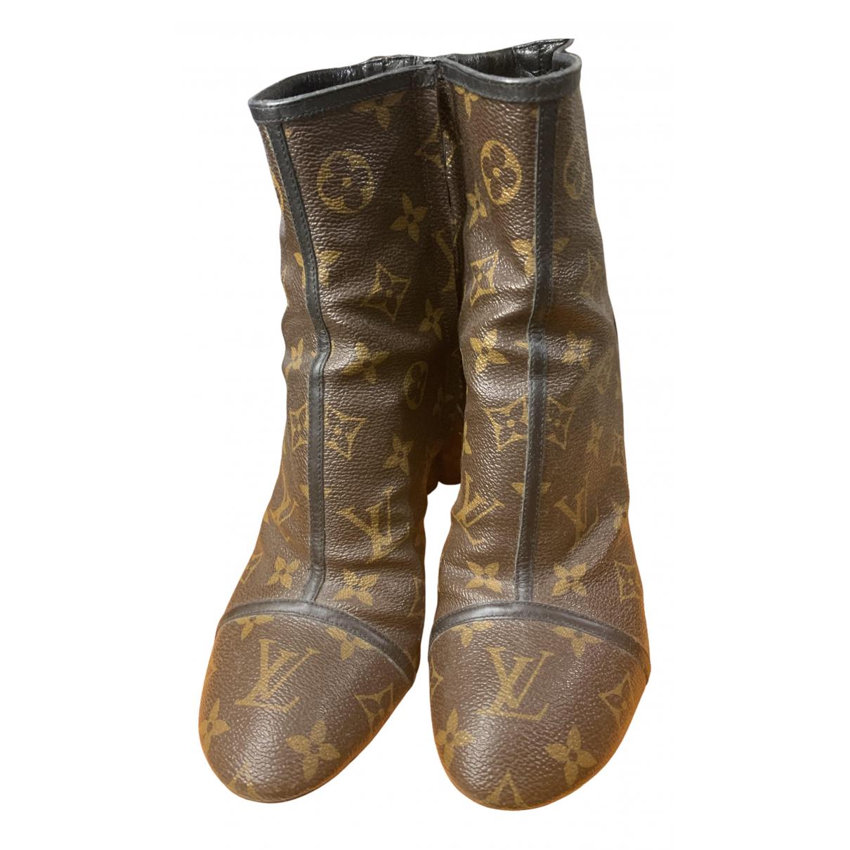 Louis Vuitton - Boots Silhouette pour femme en cuir - marron