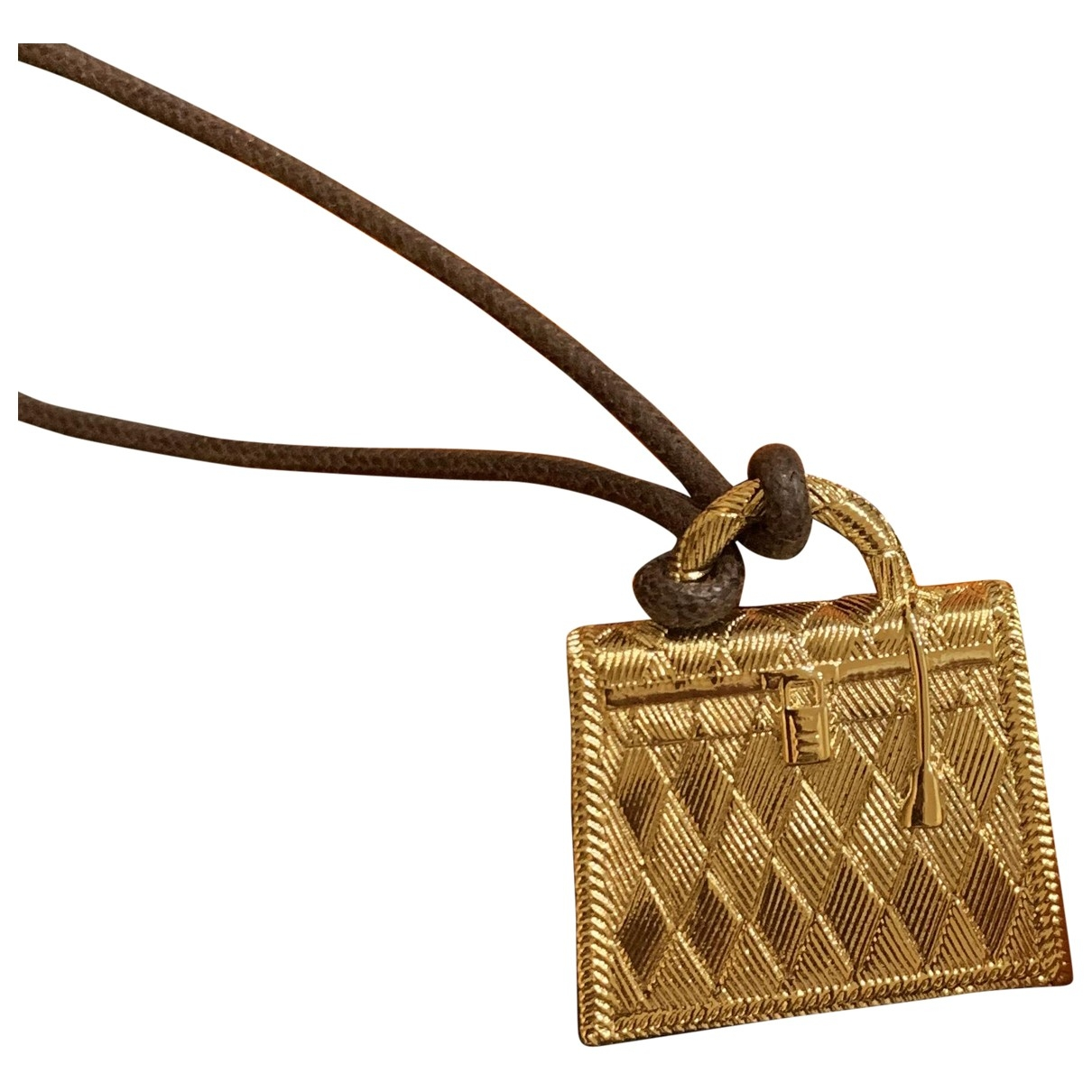 Hermes Kelly Anhaenger in  Gold Metall