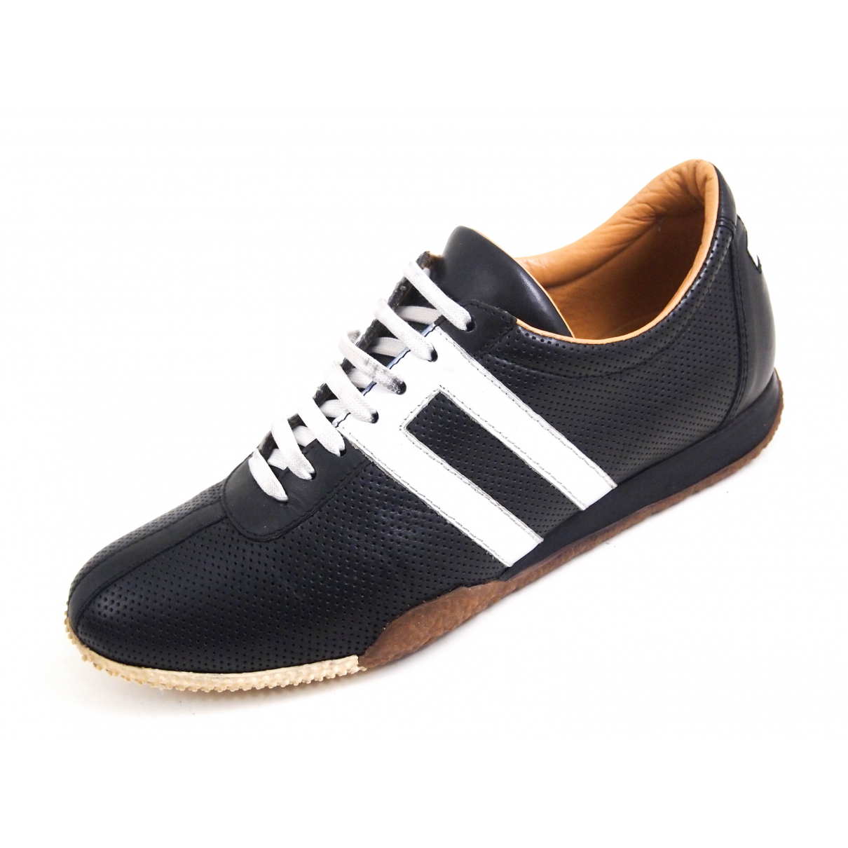 Bally N Black Leather Trainers for Women 36.5 EU