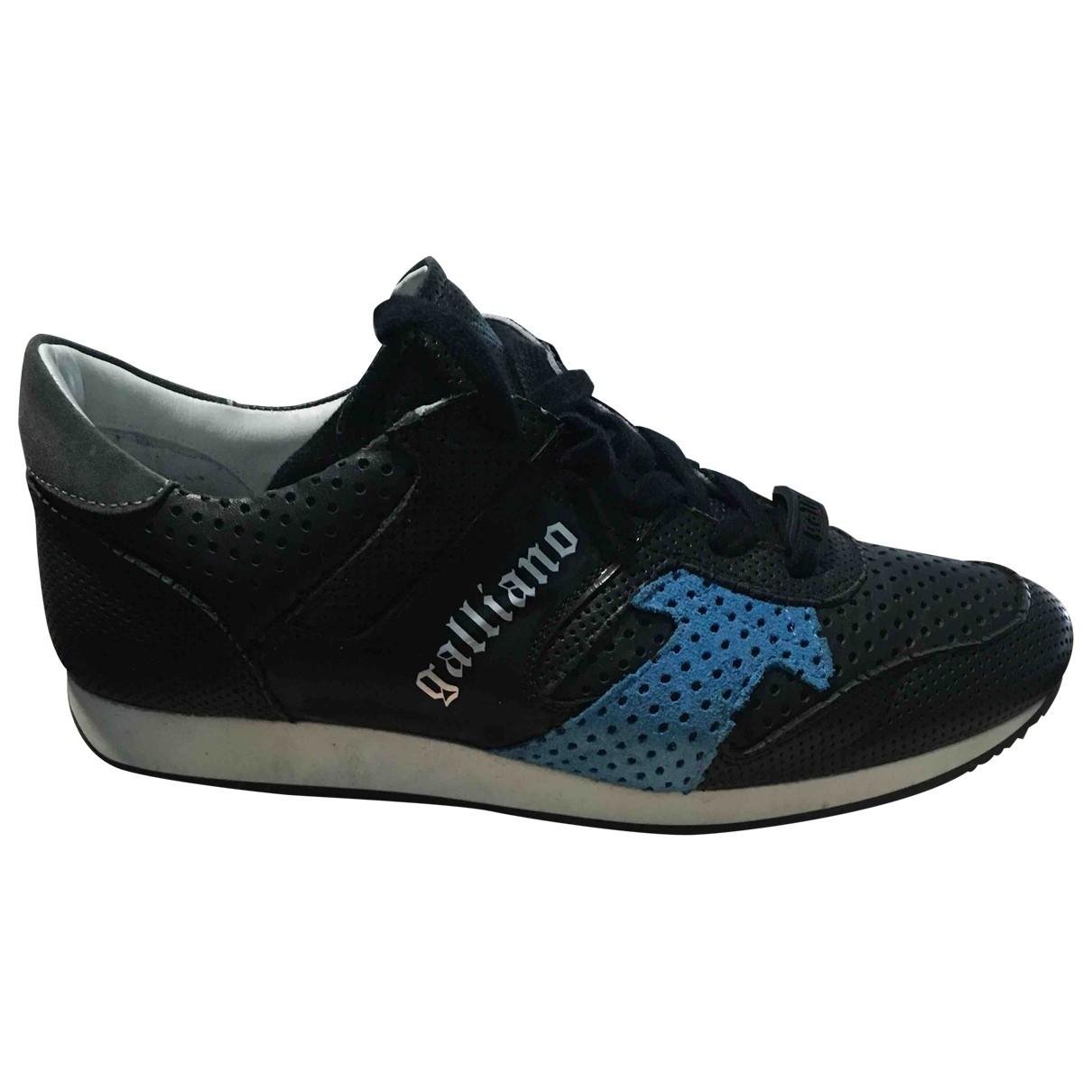 John Galliano - Baskets   pour homme en cuir - noir