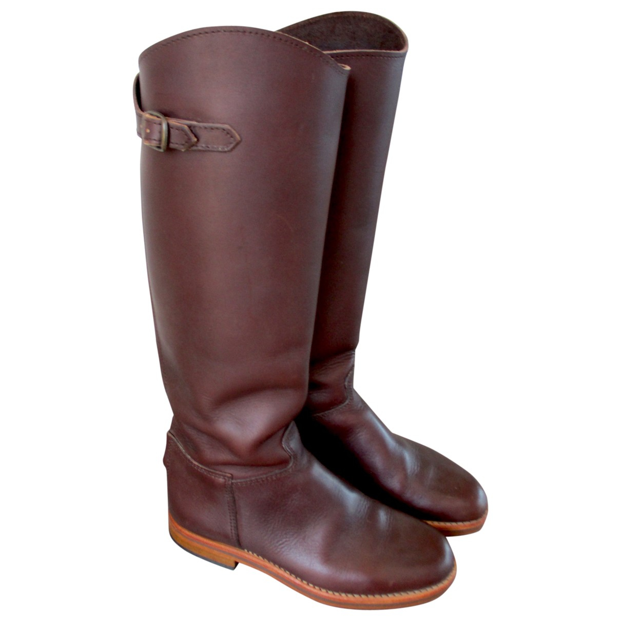 La Botte Gardiane N Brown Leather Boots for Women 35 EU
