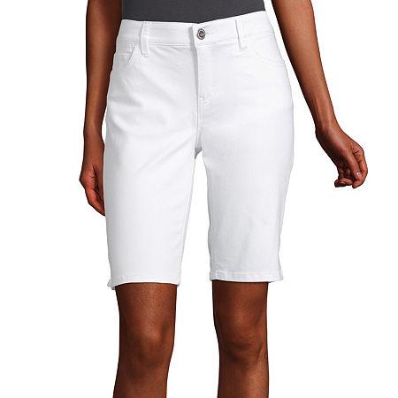Liz Claiborne Flexi Fit Bermuda - Tall, 6 Tall , White