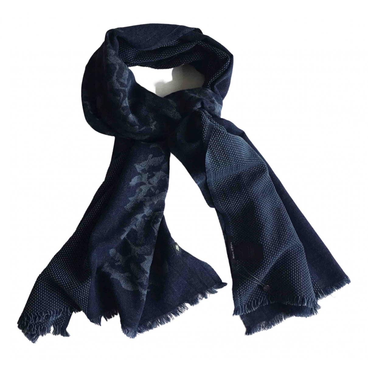 Non Signe / Unsigned \N Tuecher, Schal in  Blau Wolle