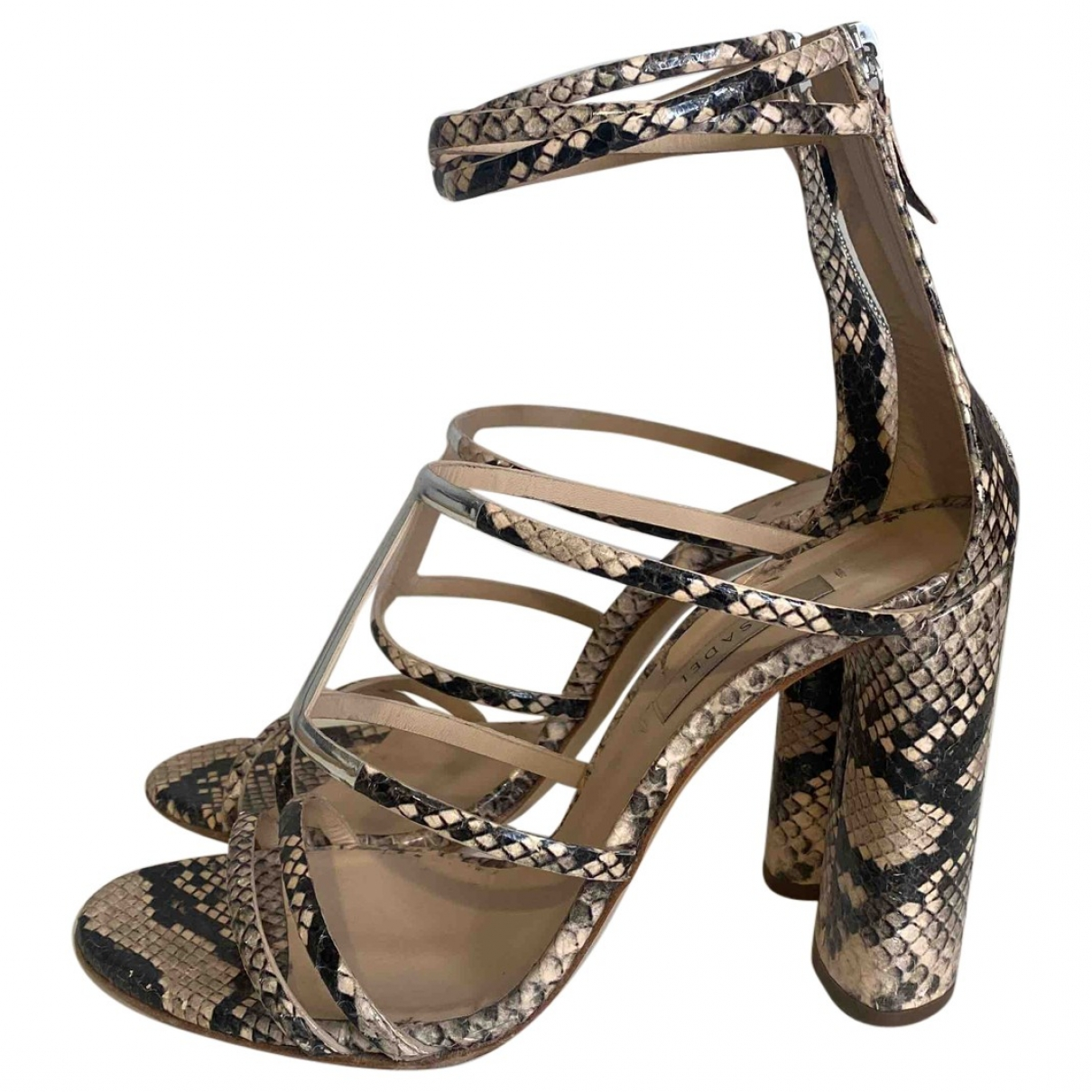 Casadei \N Beige Python Sandals for Women 39 EU
