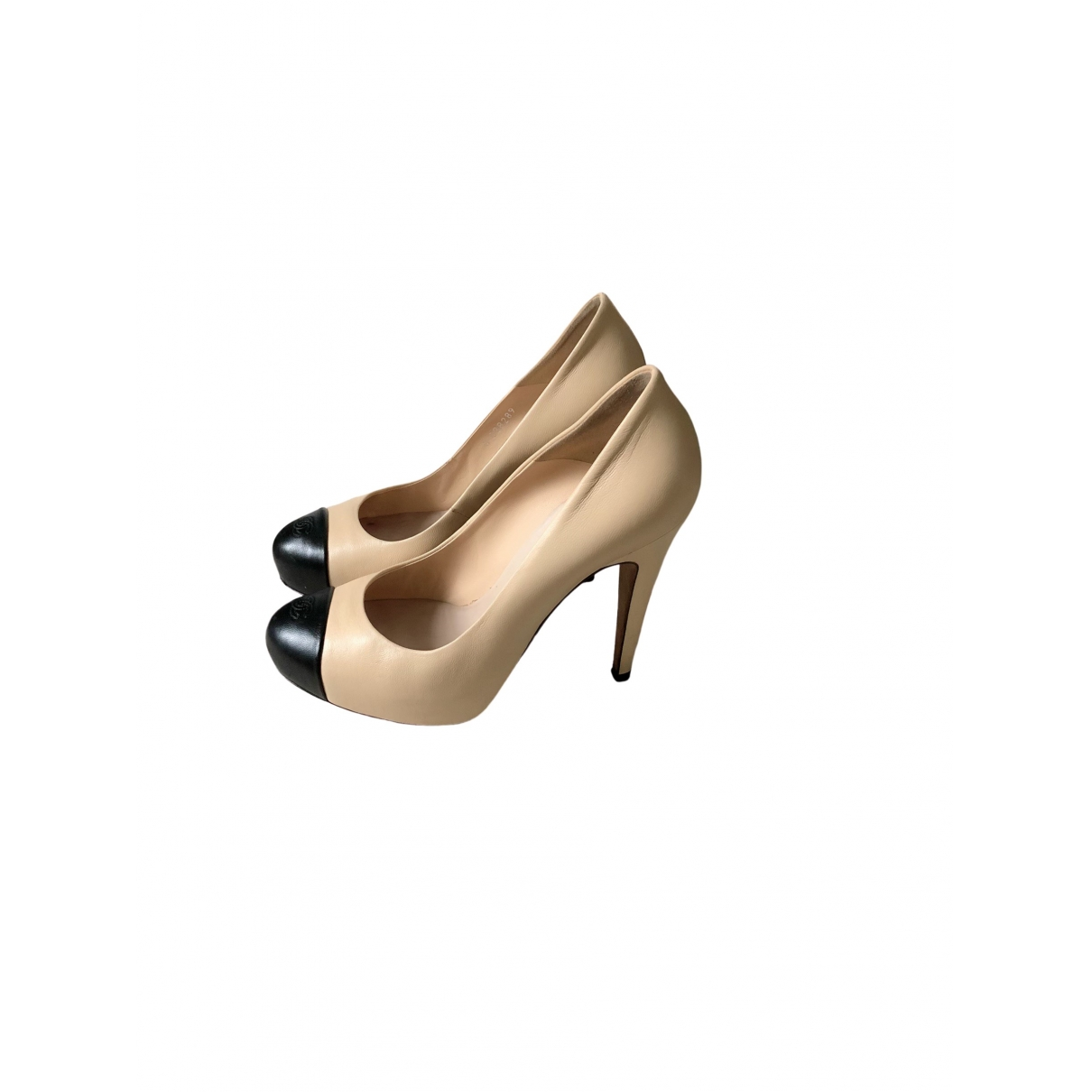 Chanel \N Beige Leather Heels for Women 37 EU