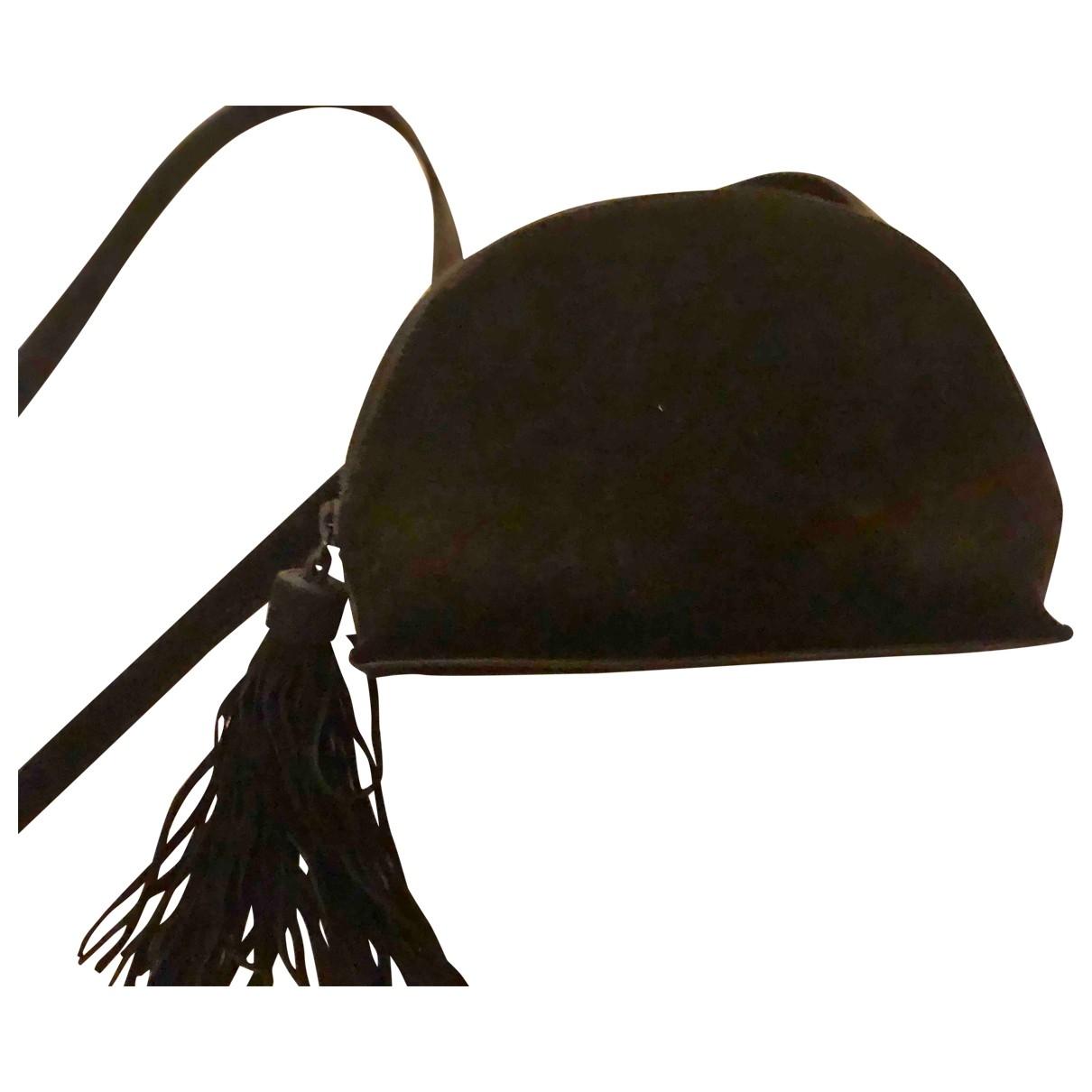 Loeffler Randall \N Handtasche in  Schwarz Veloursleder