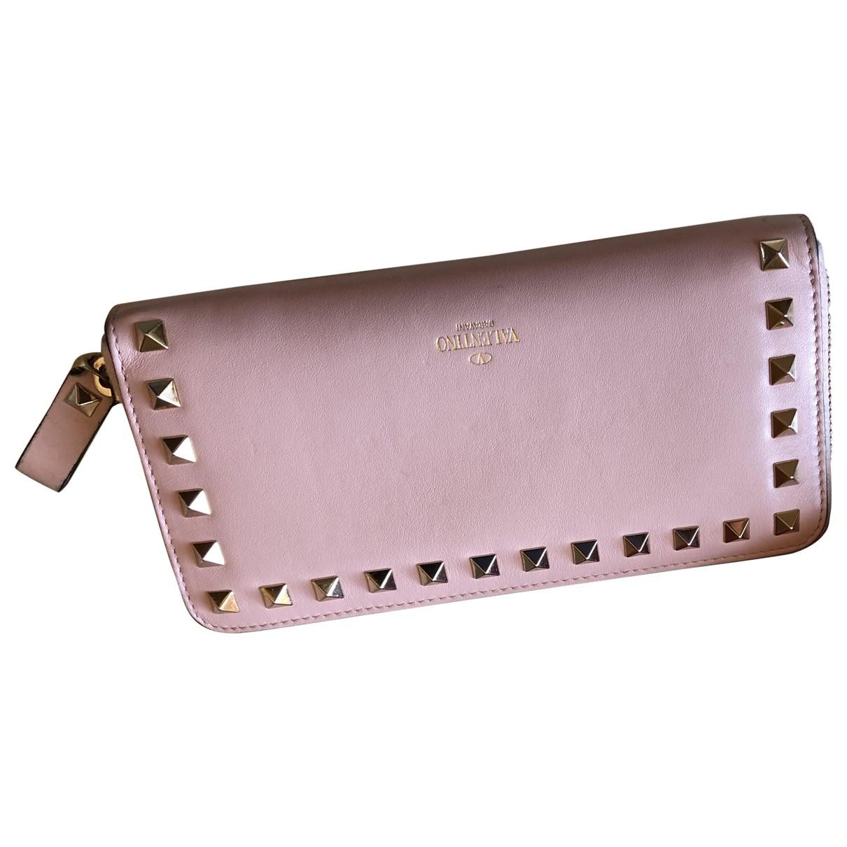 Valentino Garavani - Portefeuille   pour femme en cuir - rose