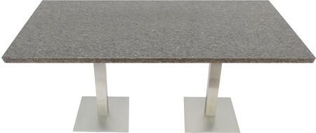 Q405 30X48-SS05-17H 30x48 Storm Gray Quartz Tabletop with 17
