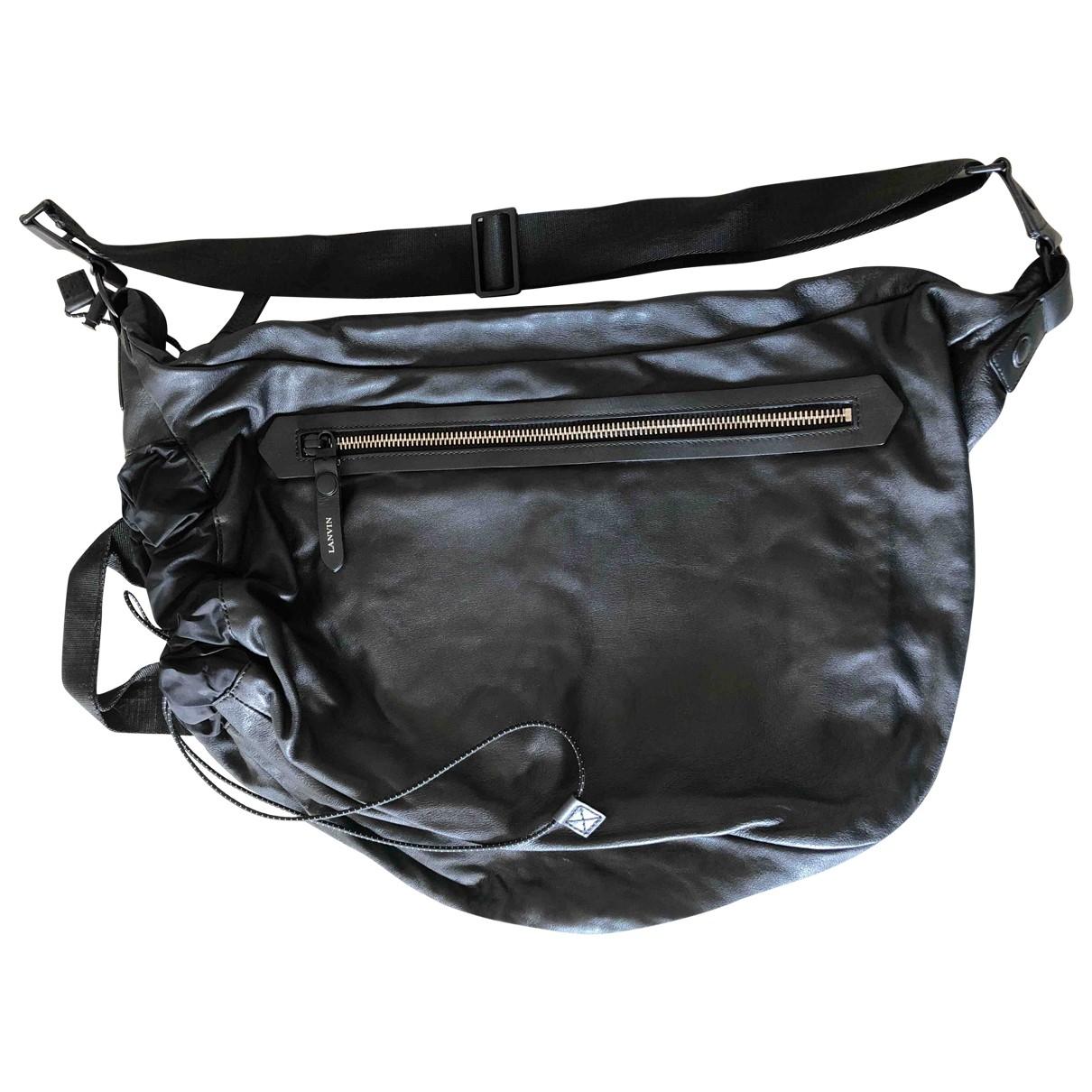 Lanvin \N Black Leather bag for Men \N