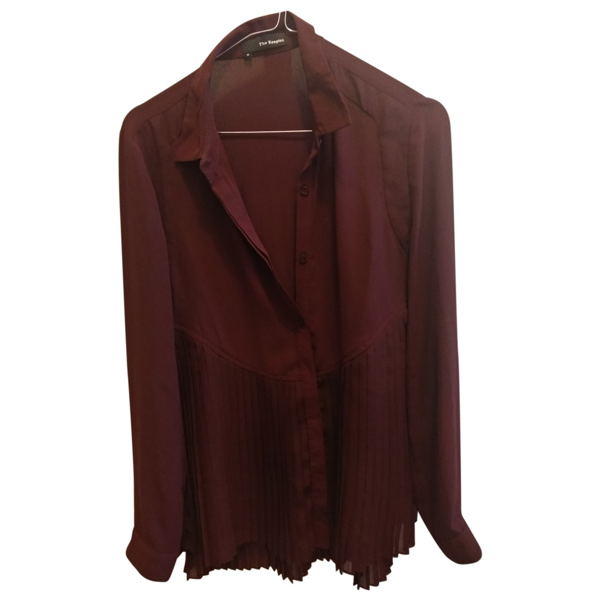 The Kooples \N Top in  Rot Polyester