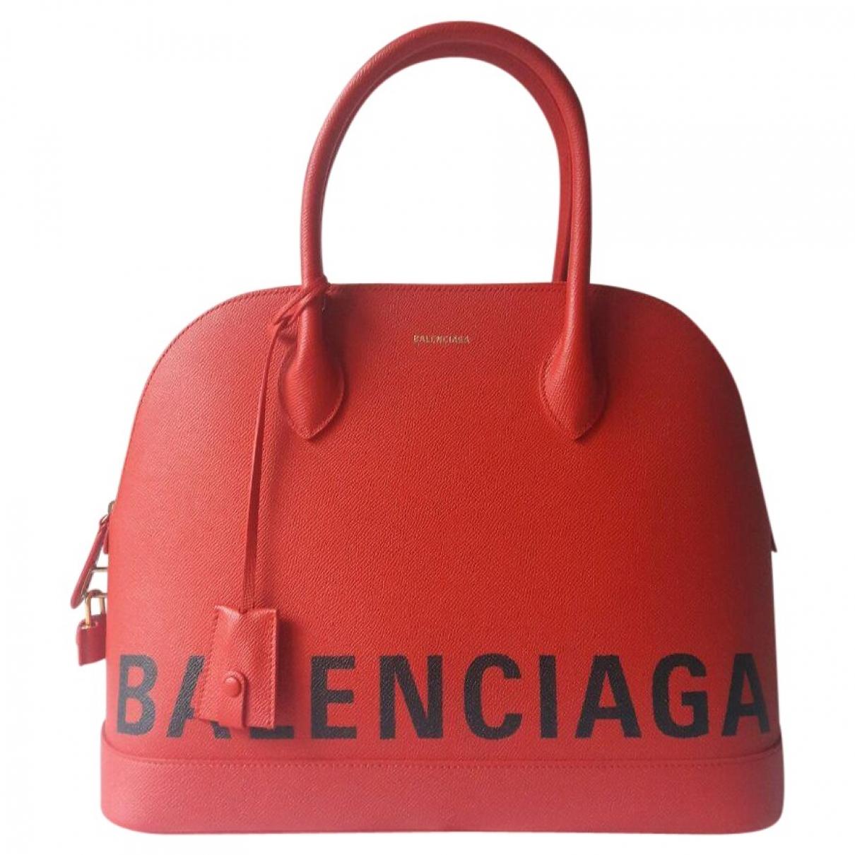 Balenciaga Ville Top Handle Red Leather handbag for Women \N