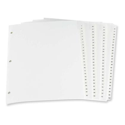 Oxford@ Pre-printed Lamin Tab Index Divider / Poly Tab Index Divider - 1-100 698290