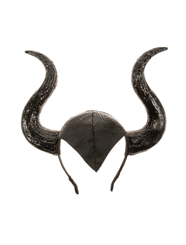 Kostuemzubehor Haarreif Teufel schwarz mit Glitzer