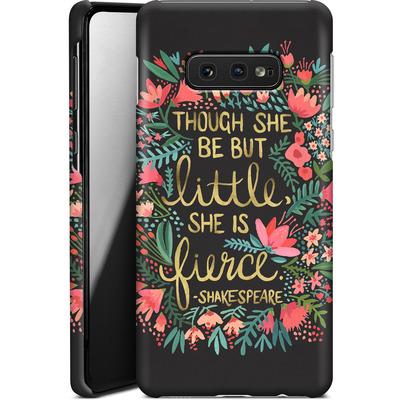 Samsung Galaxy S10e Smartphone Huelle - Little But Fierce Charcoal von Cat Coquillette