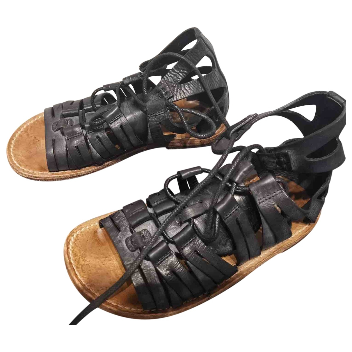 Dolce & Gabbana \N Black Leather Sandals for Men 6 US