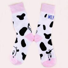 Maedchen Socken mit Buchstaben Grafik