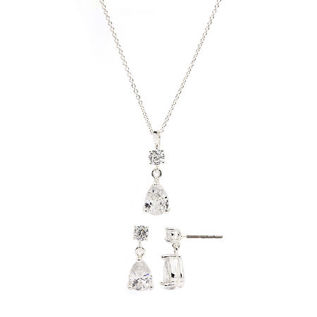 Sparkle Allure 3-pc. Cubic Zirconia Pure Silver Over Brass Jewelry Set, One Size , No Color Family