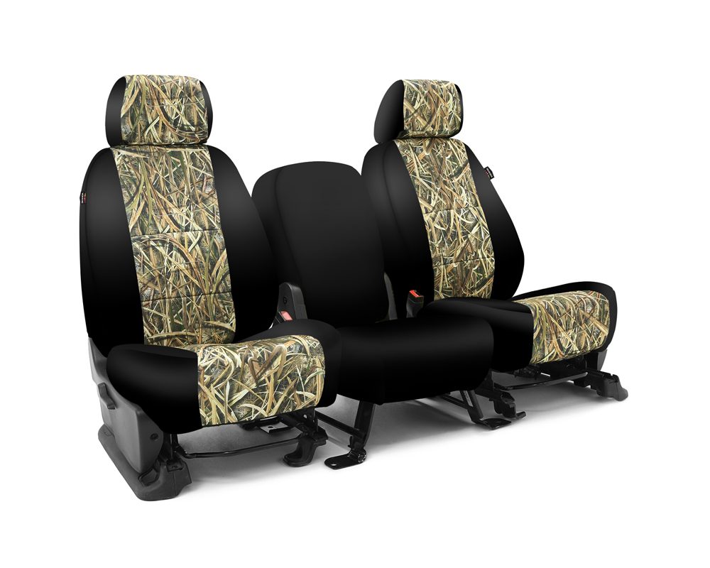 Coverking CSC2MO07GM8682 Skanda Custom Seat Covers 1 Row Neosupreme Mossy Oak Shadow Grass Blades with Black Sides Front GMC Sierra 1500 2010-2013