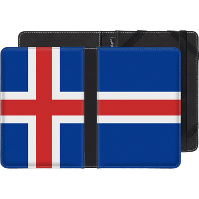 Amazon Kindle Paperwhite 4 (2018) eBook Reader Huelle - Iceland Flag von caseable Designs