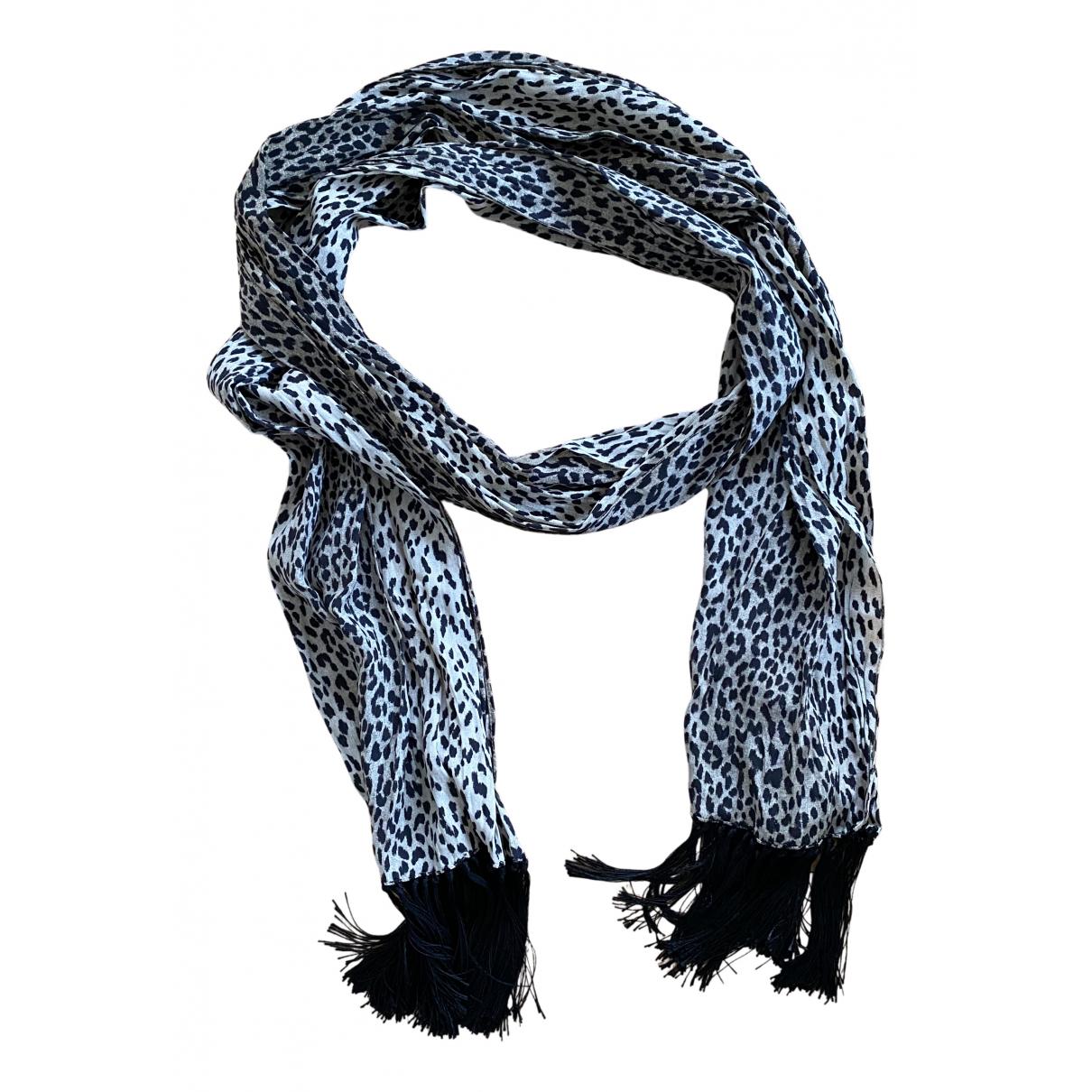 Saint Laurent N Gold Silk scarf for Women N