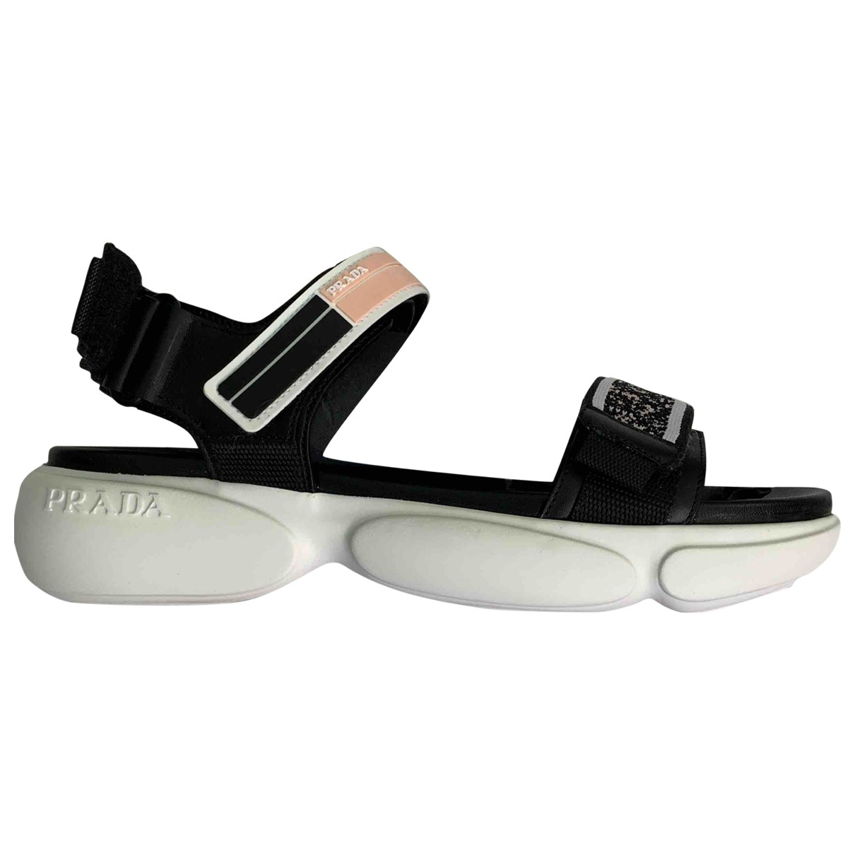 Prada N Black Rubber Sandals for Women 38 EU