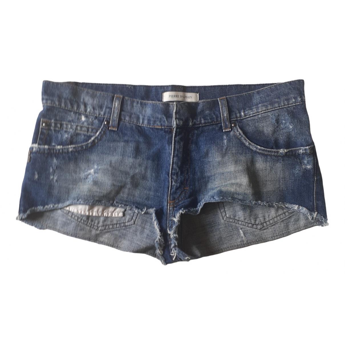 Balmain \N Shorts in  Blau Denim - Jeans