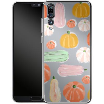 Huawei P20 Pro Silikon Handyhuelle - Pumpkin Pattern Grey von Mukta Lata Barua