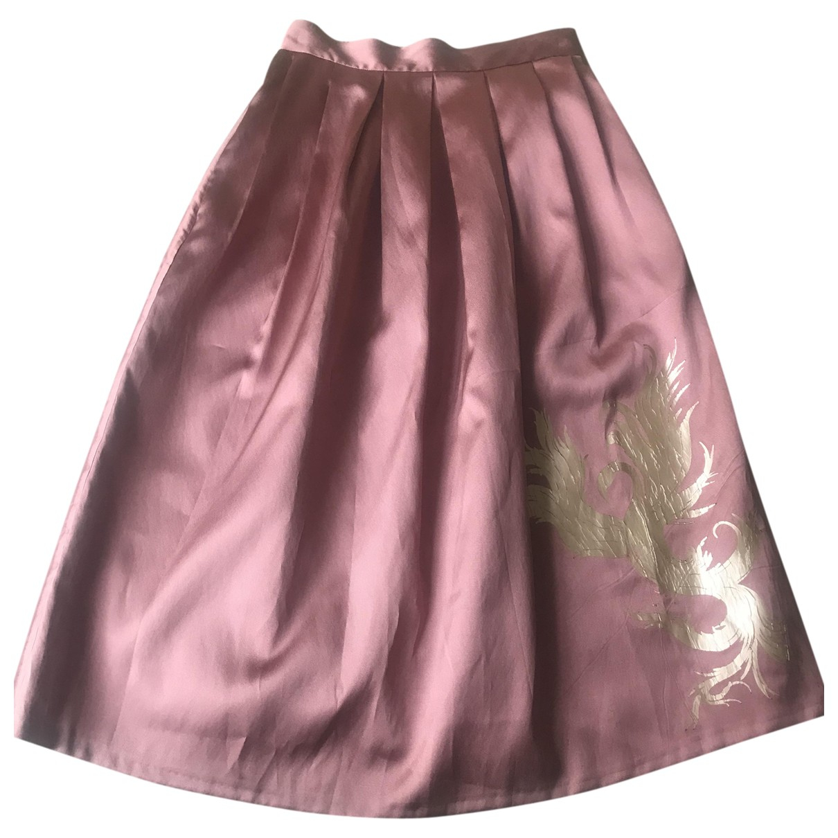 Non Signe / Unsigned \N Rocke in  Rosa Polyester