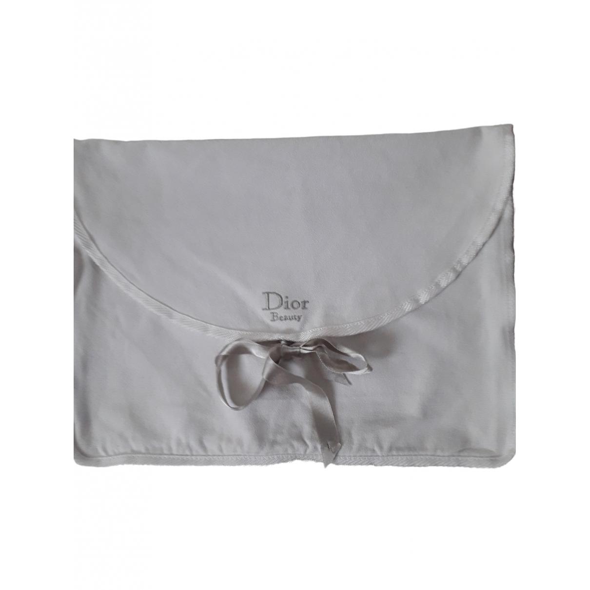 Dior \N Clutch in  Weiss Baumwolle