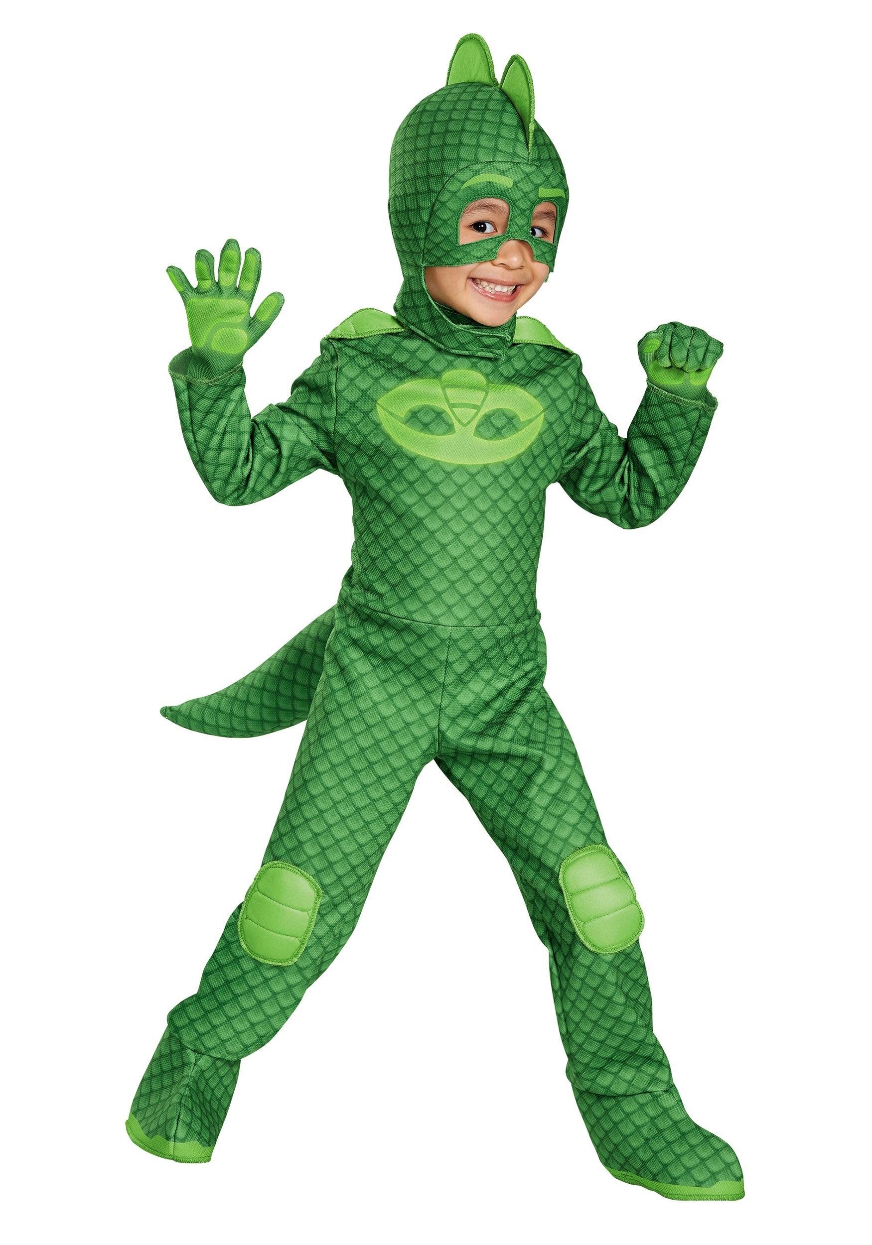 Boys Deluxe Gekko Costume from PJ Masks   Kids Halloween Costume