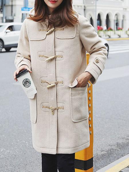Milanoo White Lolita Duffle Coats Overcoat Lolita Outwears