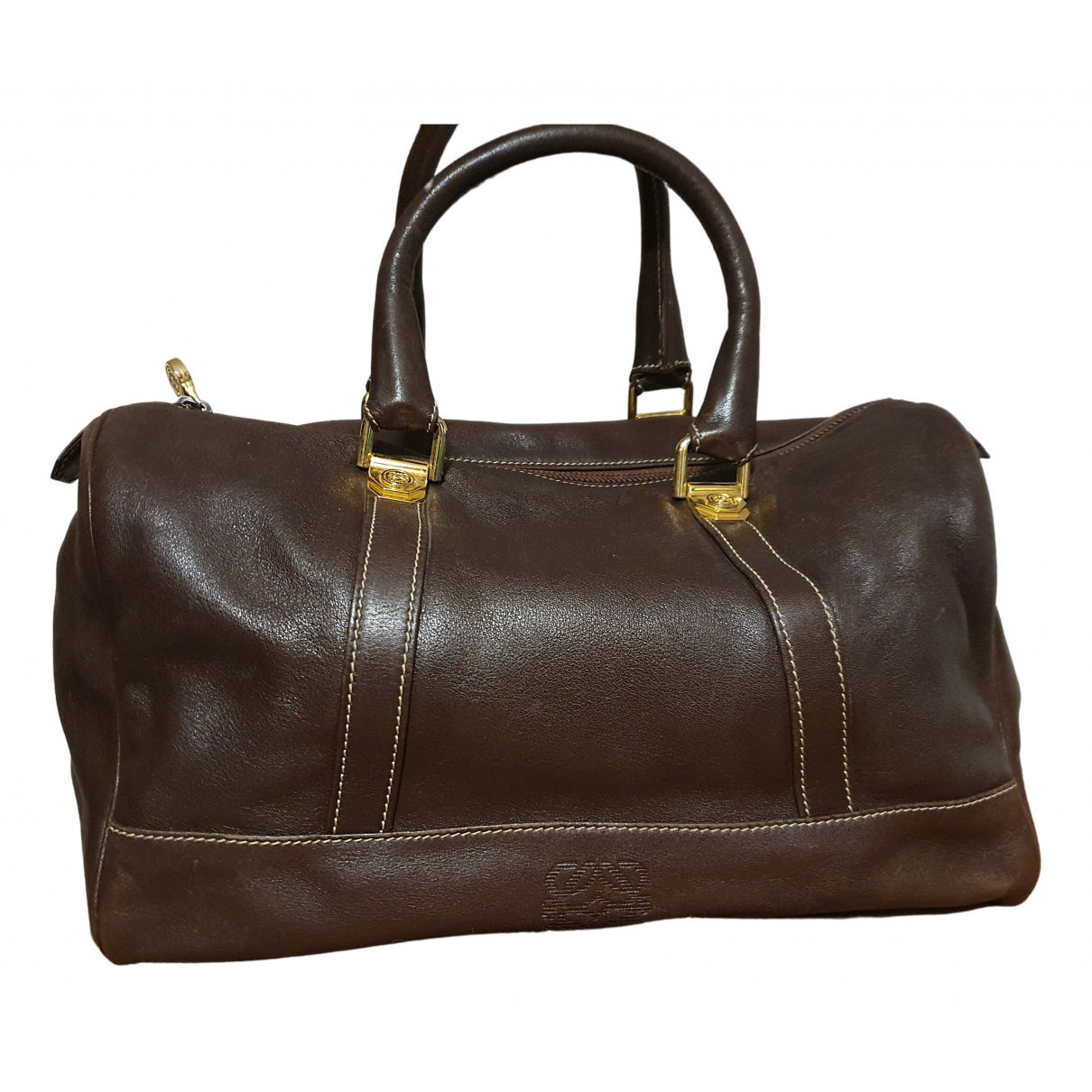 Loewe - Sac a main   pour femme en cuir - marron