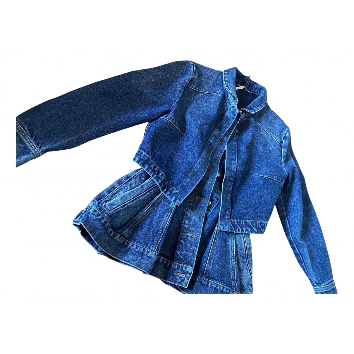 Alexander Mcqueen N Blue Denim - Jeans jacket for Women 40 IT
